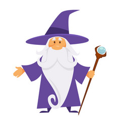 Old magician or wizard witchcraft and warlock vector