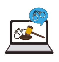Online legal advice vector