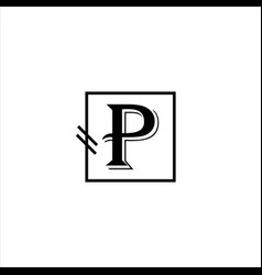 p p letter logo abstract design vector image