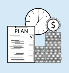 plan time and money vector image