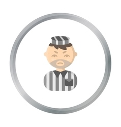 Prisoner cartoon icon for web and vector