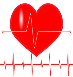 Pulse heartbeat icon vector image