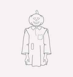 pumpkinhead icon line element vector image