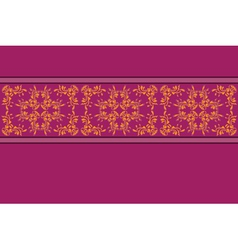Purple pattern with yellow flower lace vector image