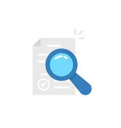 Risk research icon for audit control vector