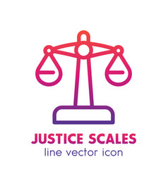 scales icon in linear style over white vector image vector image