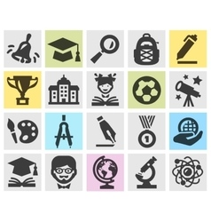 School logo design template education or vector