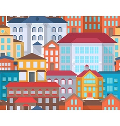 Seamless city street vector