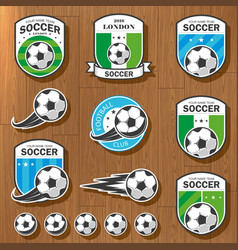 set football logos vector image