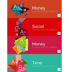 Set of infographic flat design banners with vector image
