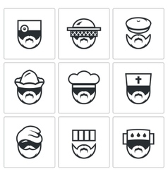 Set of Profession People Icons Doctor vector image