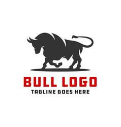 Simple modern bull logo vector