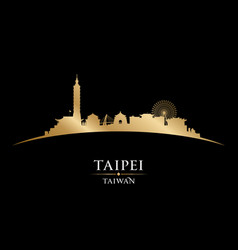 Taipei taiwan city skyline silhouette black vector