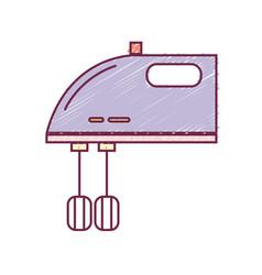 Technology mixer electric kitchen utensil vector