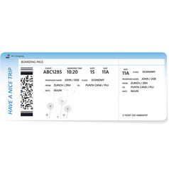 template blue boarding pass vector image