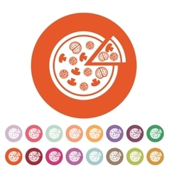 The pizza icon Pizzeria and baking fast food vector image