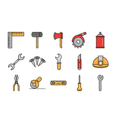 tool repair maintenance and construction equipment vector image