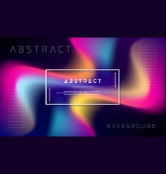 trendy abstract liquid background vector image