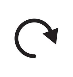 Undo icon back or return sign vector