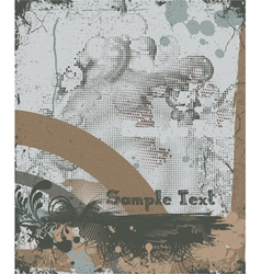 vintage background with grunge vector image