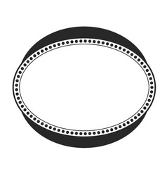 Vintage oval retro frame with dotted and line vector