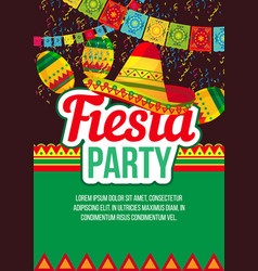 Vivid design of fiesta event poster vector