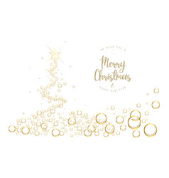White christmas tree background with bubbles and vector