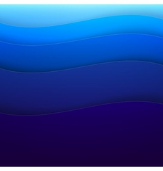 Abstract blue paper wave shapes background vector