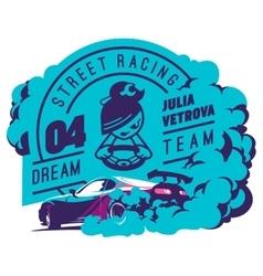 Burnout car Japanese drift sport Street racing vector image vector image