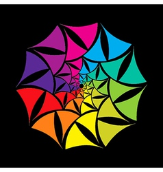 colorful abstract shape design vector image