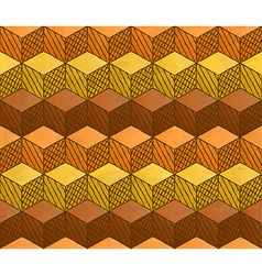 Honey themed cubes seamless pattern vector image vector image