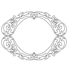 oval baroque ornamental decorative frame vector image vector image