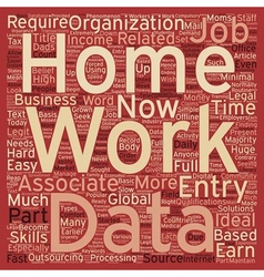 Work From Home Data Entry Jobs text background vector image
