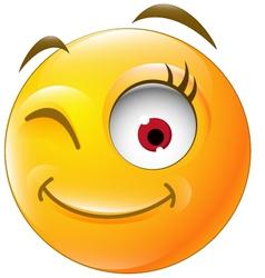 Eye blinking for you design vector