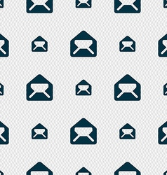 Mail envelope letter icon sign Seamless pattern vector image vector image