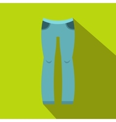 Woman trousers icon flat style vector image