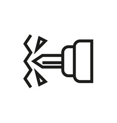 drill icon on white background vector image vector image