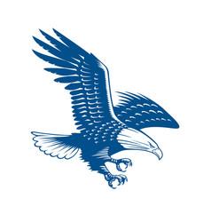 Falcon bird logo abstract design template vector