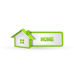 House icon and button vector image