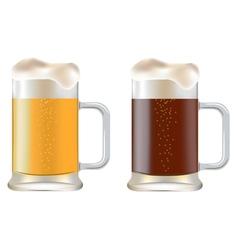 Mugs of Beer vector image vector image