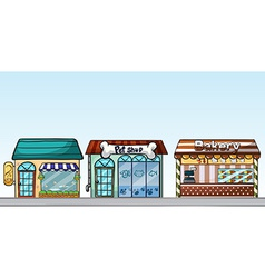 Shops vector image