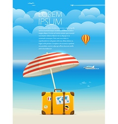 Summer seaside vacation Template for a text vector image vector image