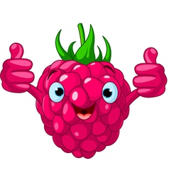 cartoon raspberry character vector image vector image
