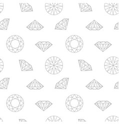 diamond concept seamless pattern wrapping paper vector image vector image