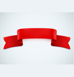 realistic red ribbon on white background vector image