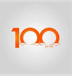 100 years anniversary celebration sunset orange vector