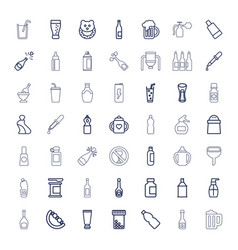 49 bottle icons vector