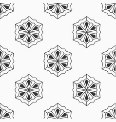 abstract seamless pattern of six-pointed stars vector image