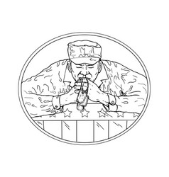 african american soldier praying drawing vector image