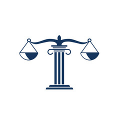 attorney law icon design template isolated vector image